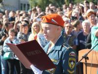 На площади Российской армии состоялось принятие присяги